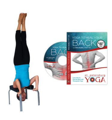 yoga headstand bench for neck / cervical spine traction
