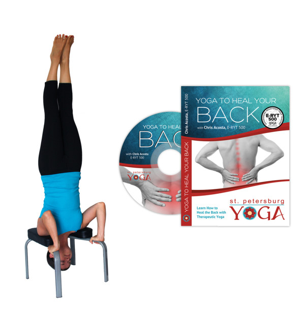 Yoga Headstand Bench + Yoga For Back Pain DVD