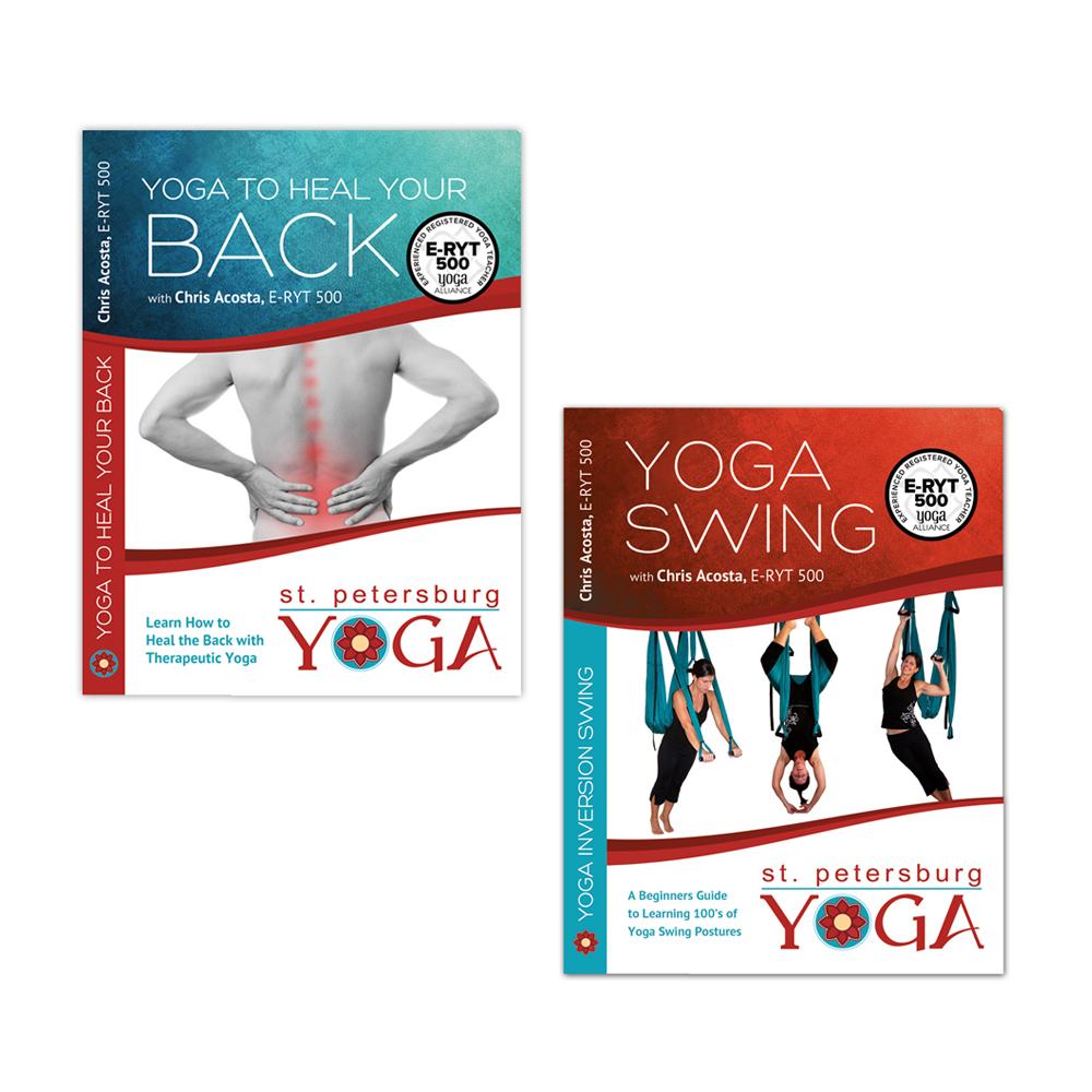 Yoga Swing Dvd Yoga For Back Pain Dvd Combo Pack St Petersburg Yoga